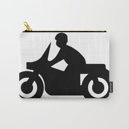 Motorcycle Silhouette Carry-All Pouch