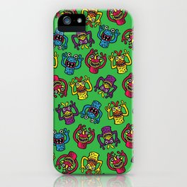 Retro Toy Finger Monsters iPhone Case