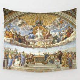 Disputation of the Holy Sacrament (La Dispute del Sacramento) Wall Tapestry