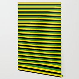 Jamaica flag stripes Wallpaper