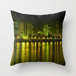 emerald city of roses Throw Pillow