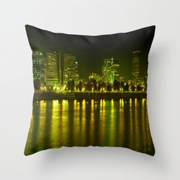 emerald city of roses Throw Pillow