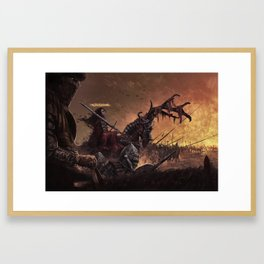 Jeanne d'arc, first horseman of the apocalypse Framed Art Print
