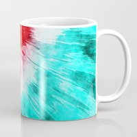 tie dye Mugs featuring Colorful Tie Dye by Phil Perkins