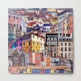 City Structures Collage Metal Print