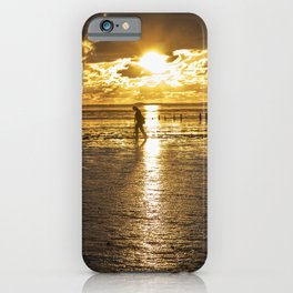 Mudflat hiking, sea hiking  iPhone Case