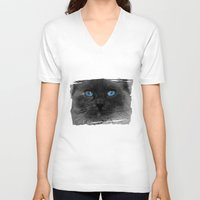 lady gaga V-neck T-shirts featuring CATTURE by Catspaws