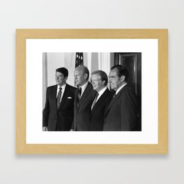 Four American Presidents Posing Together - 1981 Framed Art Print