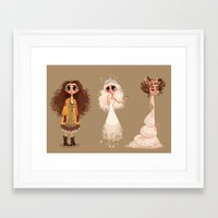 cinderella Framed Art Prints featuring Cinderella by Anoosha Syed