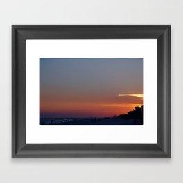 rosemary beach sunset Framed Art Print