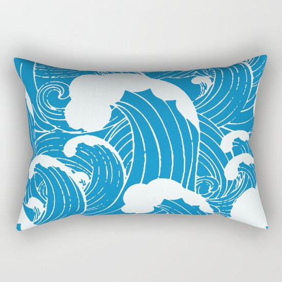 waves after waves Rectangular Pillow