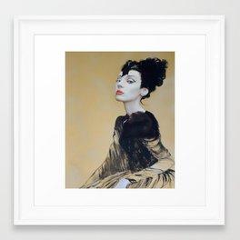 Gold Eyes Framed Art Print