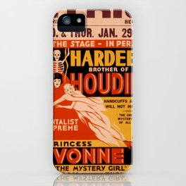 Vintage poster - Hardeenm Brother of Houdini iPhone Case