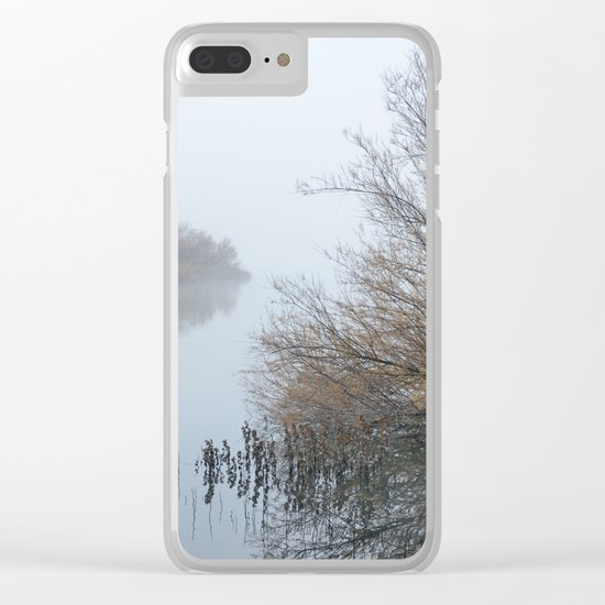 Magic Foggy Morning At The Lake Clear iPhone Case