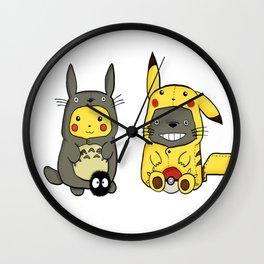 Pikacu and totoroo Wall Clock