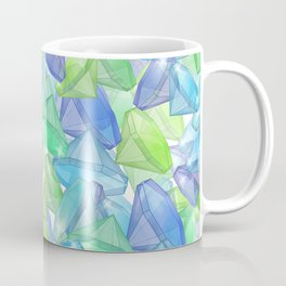 Placer precious stones, yellow , green , blue . Coffee Mug