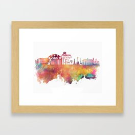 Las Vegas skyline Framed Art Print