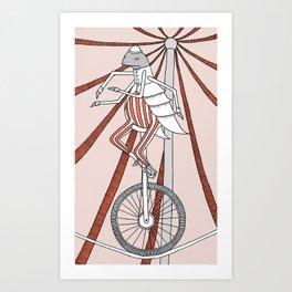 Flea Circus Art Print
