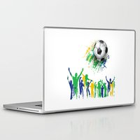 world cup Laptop & iPad Skins featuring World Cup Fever by Robin Curtiss