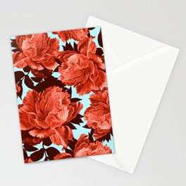 the big vermilion rose Stationery Cards