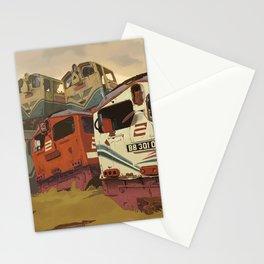 Train Graveyard Stationery Cards