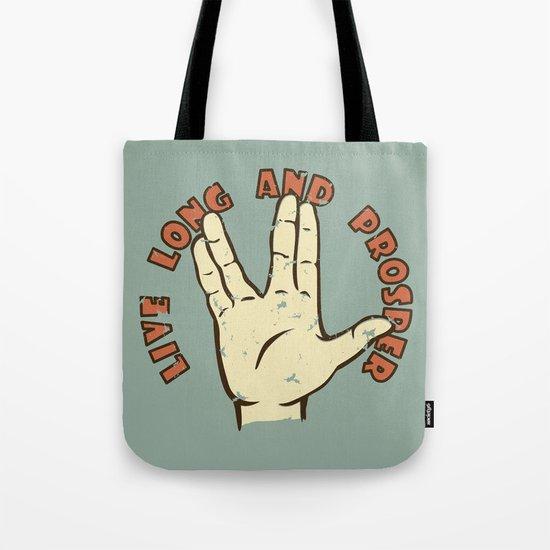 LIVE LONG AND PROSPER! - Star Trek Tote Bag