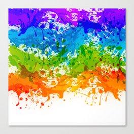 Colorful Splashes Canvas Print