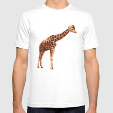 King Giraffe Mens Fitted Tee White MEDIUM