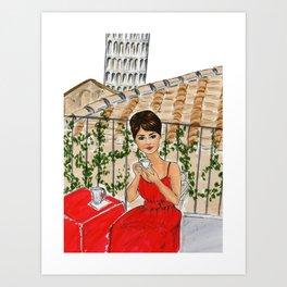 Sophia in Pisa Art Print