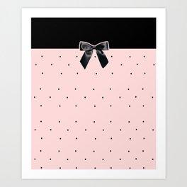 Black Tie Affair: Pink Art Print