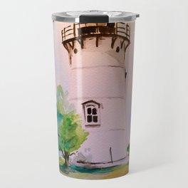 East Chop (Telegraph Hill) Lighthouse Martha's Vineyard Watercolor Travel Mug