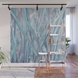 Soft turquoise morning grass Wall Mural