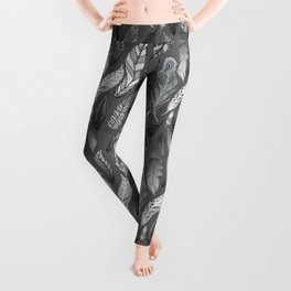 Falling Feathers on a Grey Day Leggings