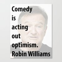 robin williams Canvas Prints featuring Robin Williams by The Sign Factory
