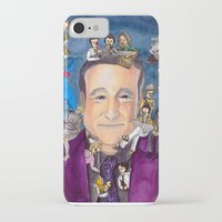 robin williams iPhone & iPod Cases featuring Robin Williams  by Aviva Bubis Art and Stuff