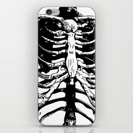 Skeleton Ribs | Black and White iPhone Skin