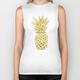 Golden Pineapple Biker Tank