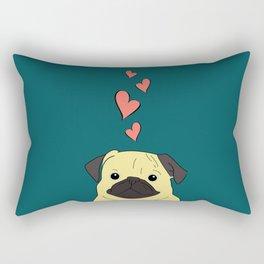 Pug Love! Rectangular Pillow