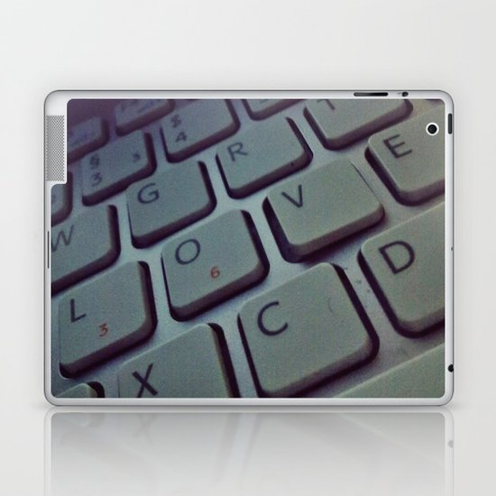 Typography Love Laptop & iPad Skin