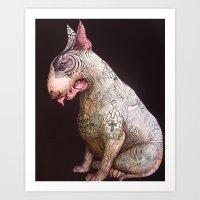Elsie the english bull terrier Art Print