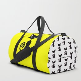 Black Cat - Lemon Yellow Duffle Bag