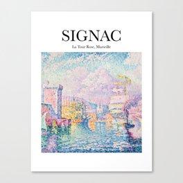 Signac - La Tour Rose, Marseille Canvas Print