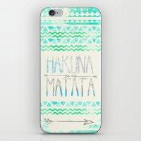 hakuna iPhone & iPod Skins featuring Hakuna Matata by Sara Eshak