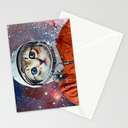 Astronaut Cat #4 Stationery Cards