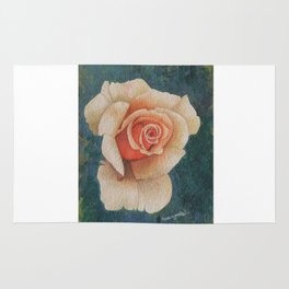 White Rose - in watercolor Rug
