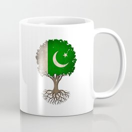 Vintage Tree of Life with Flag of Pakistan Coffee Mug