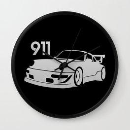 Porsche 911 - silver - Wall Clock