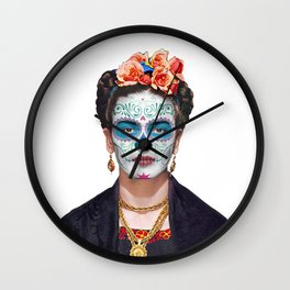 Frida Catrina Sugar Skull Wall Clock