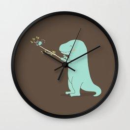 Selfie T-Rex Wall Clock