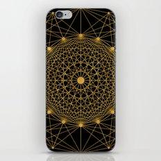 Geometric Circle Black and Gold iPhone Skin